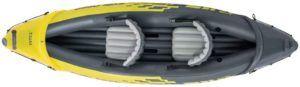 Kayak deux places conçu avec du vinyle renforcé.