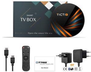 La box tv de Tictid avec tous ses accessoires