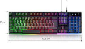 Le clavier mécanique est très facile à utiliser.