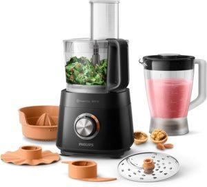 Le robot cuisine de Philips avec tous ses accessoires