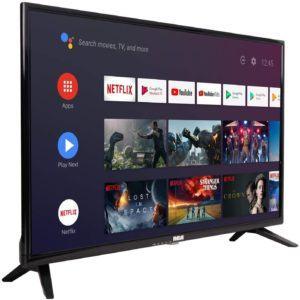 Téléviseur compatible Android avec chromecast intégré.