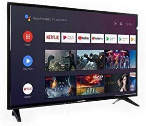 TV 32 pouces accrochable au mur compatible Android.
