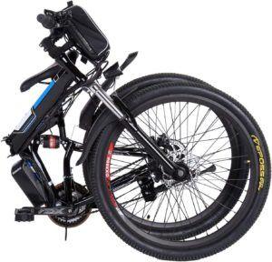 Vélo électrique pliant doté d'une structure résistante.