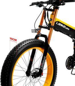 Vélo électrique puissant pliant pour adulte.