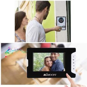 Visiophone sans fil pour porte compatible avec écran téléphone.