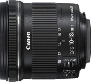 objectif grand angle pour appareil photo professionnel.