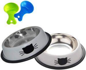 L'acier inoxydable est un super matériau pour la gamelle pour chat