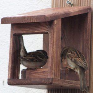 Compacte et esthétiquement réussie, cette mangeoire pour oiseaux se classe parmi les meilleures