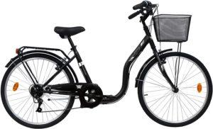 Un vélo VTC urbain prêt à l'emploi