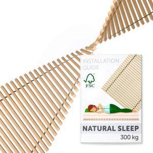 Un sommier à lattes en bois 100% naturel
