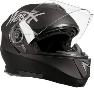 Une image d'un casque moto modulable Westt Torque X.