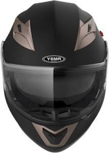 Une image d'un casque moto modulable YEMA YM-925.