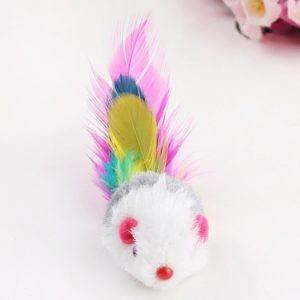 Ce jouet pour chat fait partie d'un pack coloré drôle