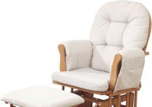 Ce fauteuil allaitement est confortable avec repose-pieds