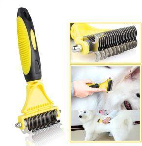 Cette brosse convient aux chiens à poils longs