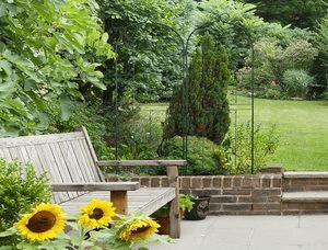 Relaxdays Treillis Jardin Fer Set de 2 clôture