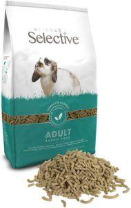 Aliment manogranulé pour lapin disponible en paquet