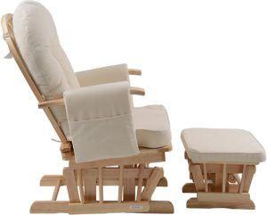 Cette chaise allaitement est équipée avec repose-pieds