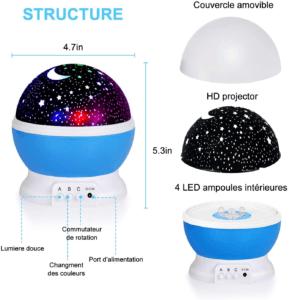C'est un projecteur étoiles rotatif à 360°