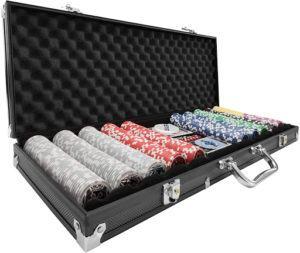 Une mallette de poker plus professionnelle avec des jetons pesés