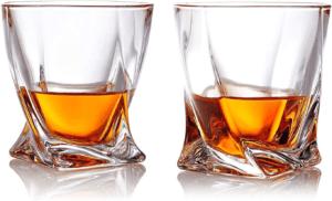Ce sont des verres à whisky fabriqués à la main