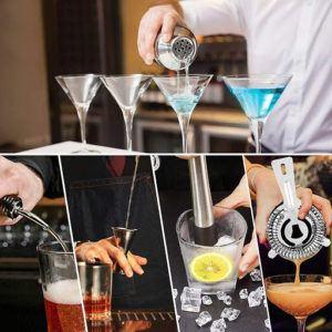 Les différentes utilisations d'un shaker cocktail et de ses accessoires