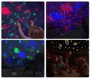 C'est un projecteur étoiles avec des musiques et des lumières du monde animal